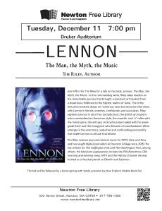 Newton Free Library talk